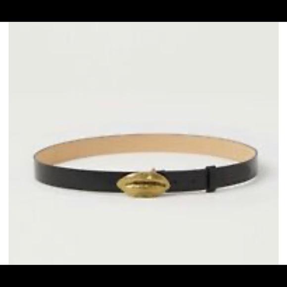 Giambattista Valli x H&M gold lip waist belt